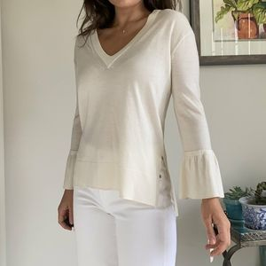 J CREW 100% merino wool bell sleeve sweater